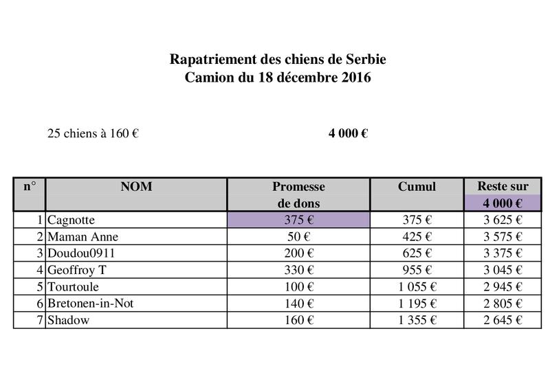 RAPATRIEMENT PAR CAMION SERBIE - arrivée le 18 décembre 2016 (Bella et Backa) 4000 € nécessaires - Page 2 Camion44