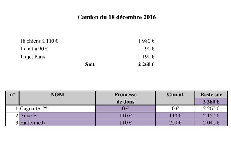 De ROUMANIE, ARRIVEE PAR CAMION  (7 JANVIER 2017 ANNULEE) DU 14 JANVIER 2017 Camion48