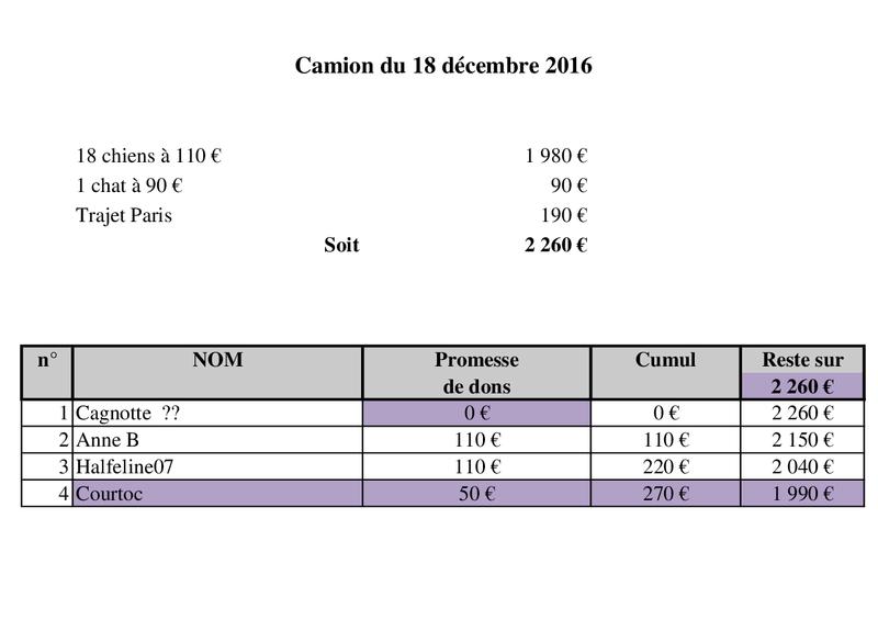 De ROUMANIE, ARRIVEE PAR CAMION  (7 JANVIER 2017 ANNULEE) DU 14 JANVIER 2017 Camion49