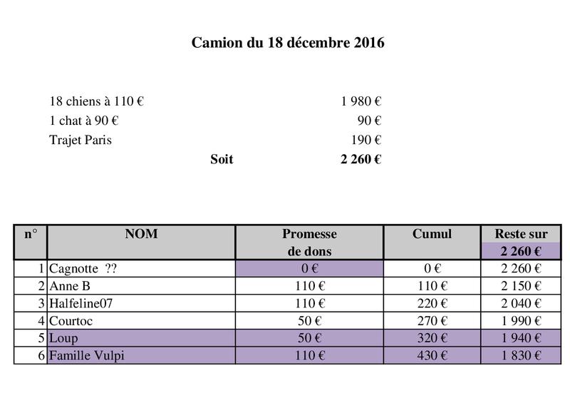 De ROUMANIE, ARRIVEE PAR CAMION  (7 JANVIER 2017 ANNULEE) DU 14 JANVIER 2017 Camion50