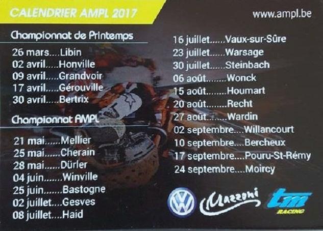 Calendrier provisoire AMPL 2017 ... 120