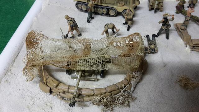Batterie mixte : obusier FH18 et PAK40  Afrika corps 1942 au 1/72 03-02-18