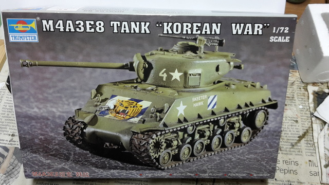 SHERMAN M4A3E8 Korean war  -  Trumpeter 1/72 20160710