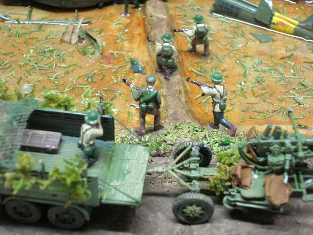 David vs Goliath- Vietnam 1960----HUEY UH-1 iroquois (en métal) + canon 40 mm Bofors et camion Praga RV  (Wrzesien) 1/72---FINI - Page 3 Detail11