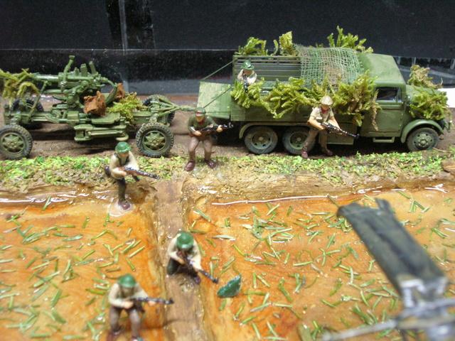 David vs Goliath- Vietnam 1960----HUEY UH-1 iroquois (en métal) + canon 40 mm Bofors et camion Praga RV  (Wrzesien) 1/72---FINI - Page 3 Detail12