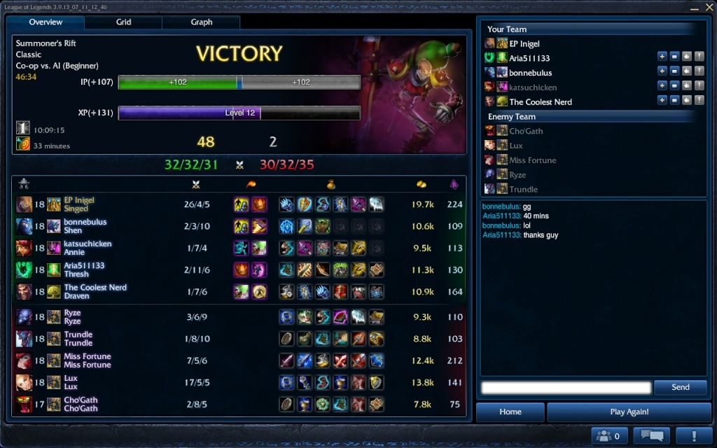 My carry with Singed Singed11