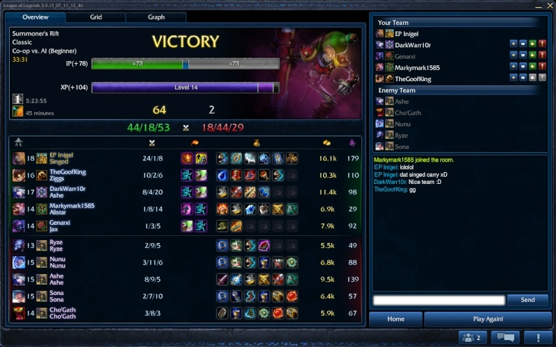 My carry with Singed Singed13