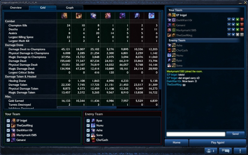 My carry with Singed Singed14