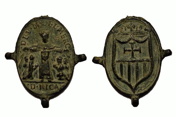 Virgen de la Merced / Emblema mercedario pezuelada S-XVII (R.M. Pe Merced 2) S-xvii10