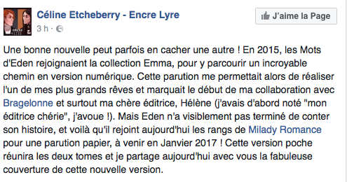 Les Mots d'Eden - Tome 1 : Vers toi de Céline Etcheberry Captur10