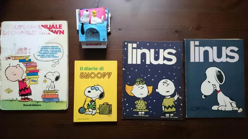 Lotto libri Snoopy + sveglia Snoopy10