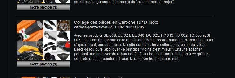 recherche pièce carbone Collag10