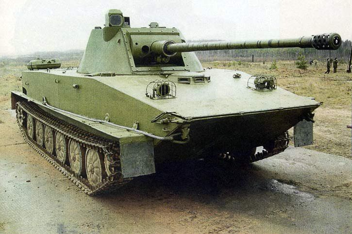 Old soviet vehicles with modern/unusual upgrades. Pt-76_10