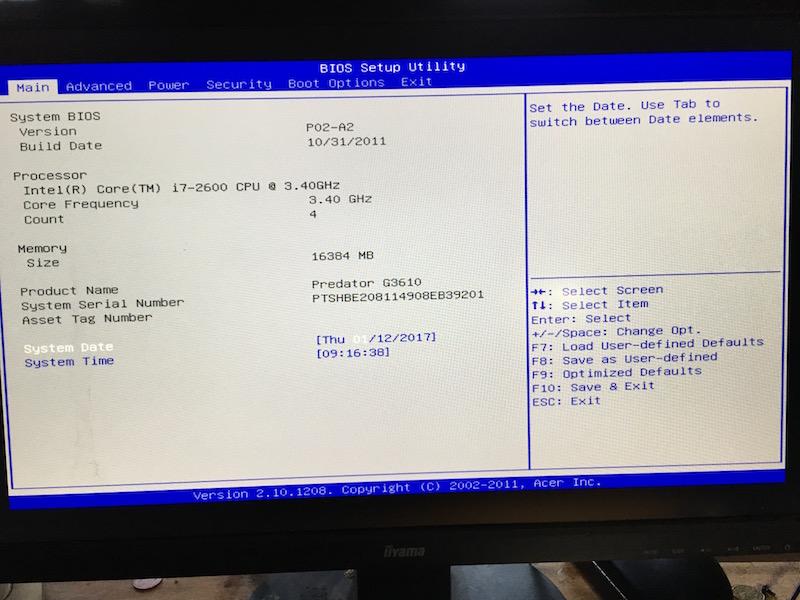 PB Install El capitan sur Acer  Predator3610 - Page 2 Img_0527