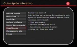 Guia interativo da Claro TV Chegou! Novo-g10