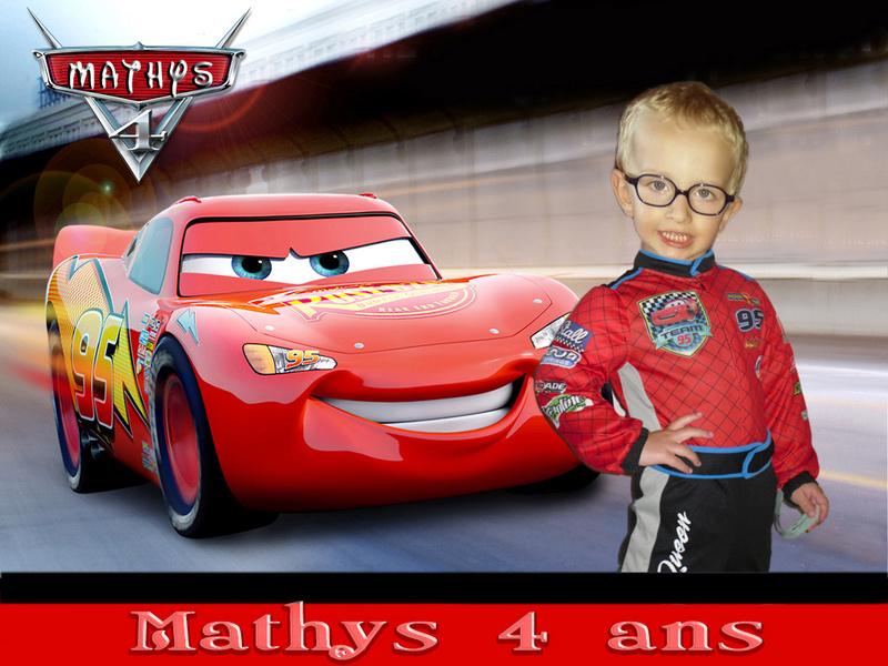 Anniversaire Mathys 4 ans cars Cars2110