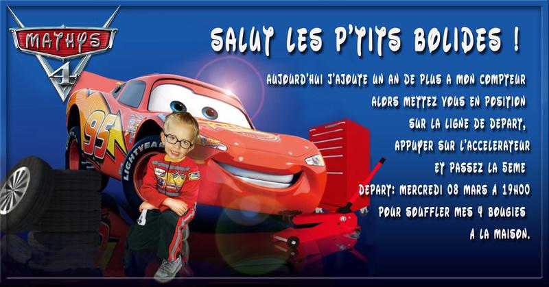 Anniversaire Mathys 4 ans cars Mathys10