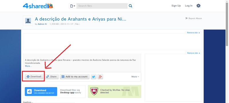 A descrição de Arahants e Ariyas para Nirvana Downl10