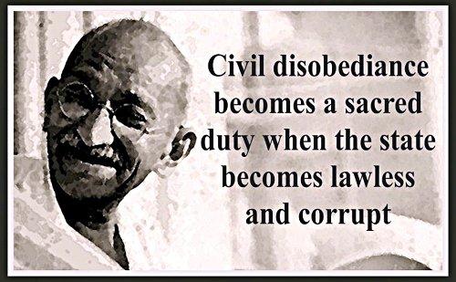 La désobéissance civile est le seul chemin de la liberté 127