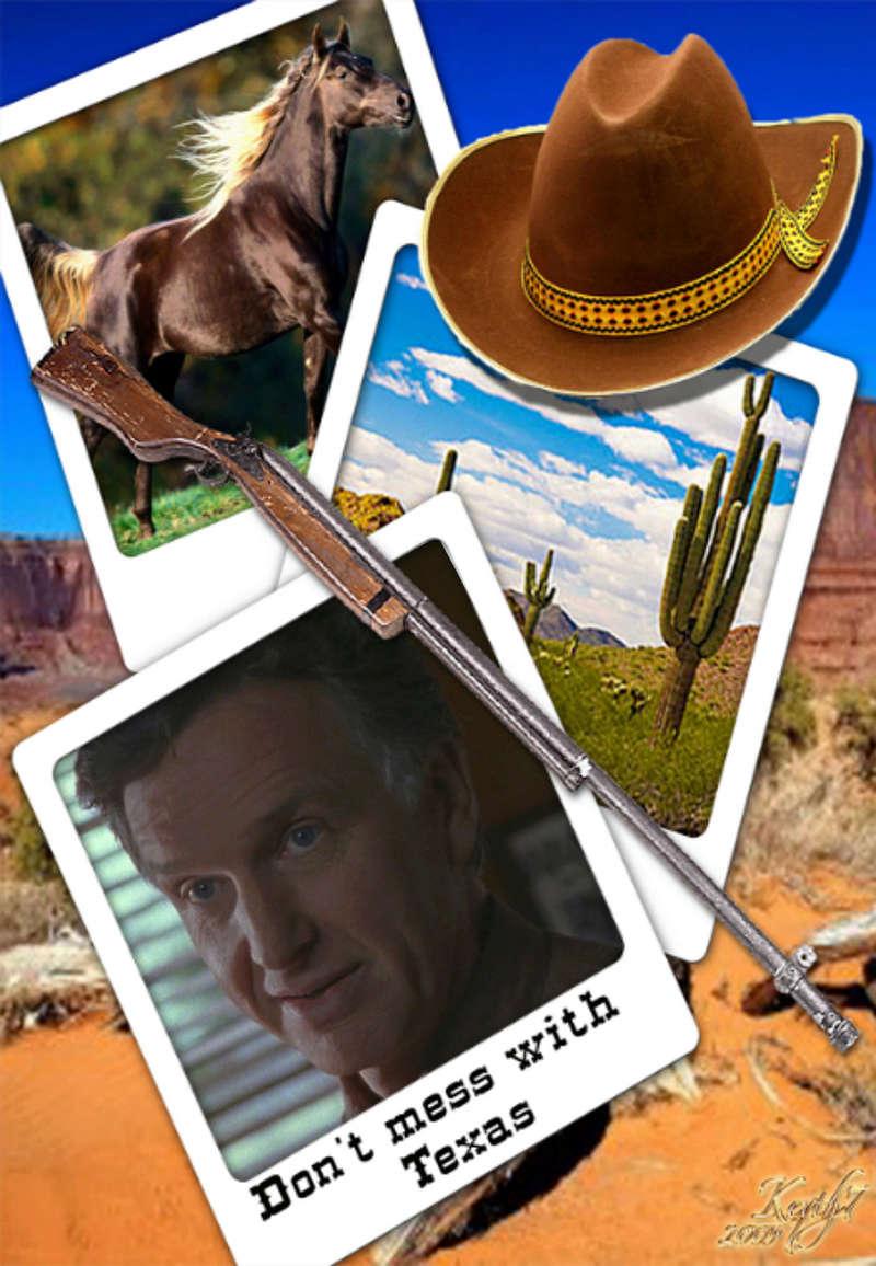 открытка для техасского детектива Фрэнка