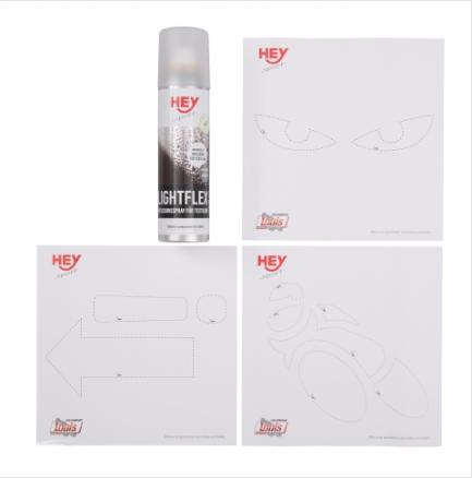 Lightflex : un spray réfléchissant et ses pochoirs Captuf13