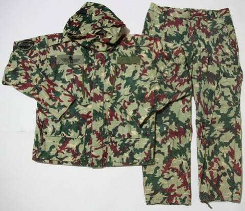 Spanish amoeba camo uniform