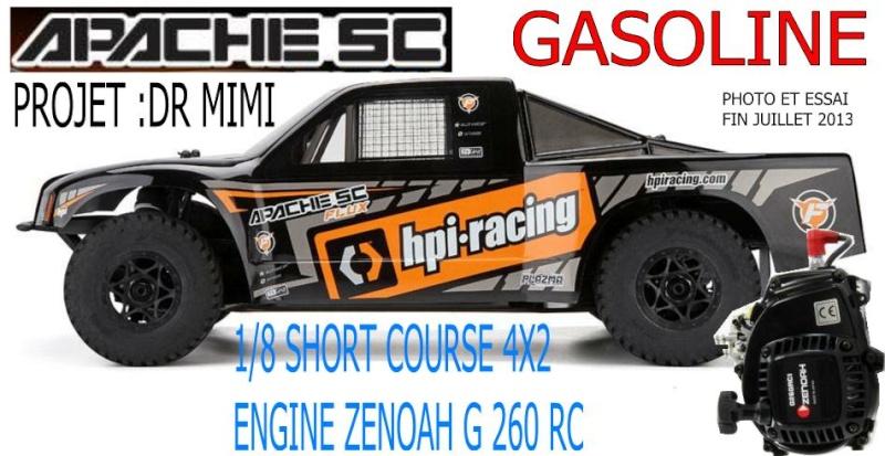 1/8 short course apache sc gasoline moteur zenoah g 260 rc  Apache10
