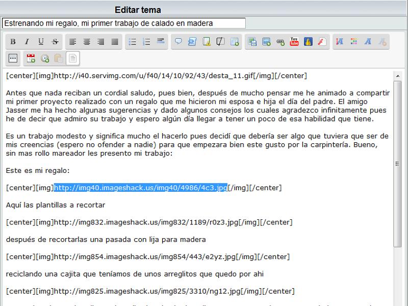 ¿Problemas con ImageShack? Comenta cuáles, o cómo son Edicia10