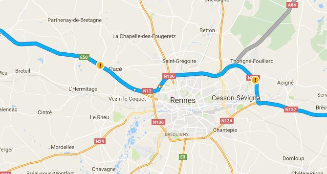 rechercher co voiturage croquettes pour Mia de St jacques de la Lande à St Brieuc  Rennes10