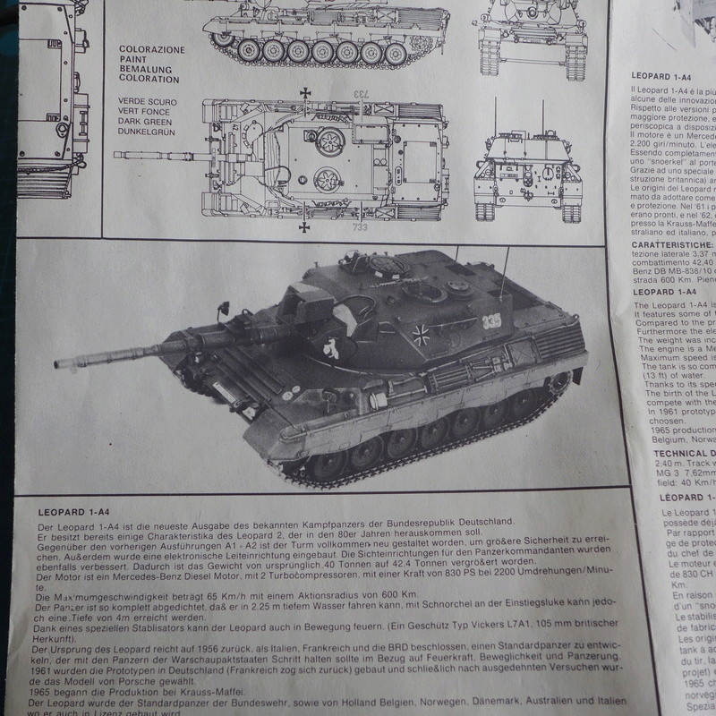 Leopard 1A4 von Italeri in 1:35 P1050717
