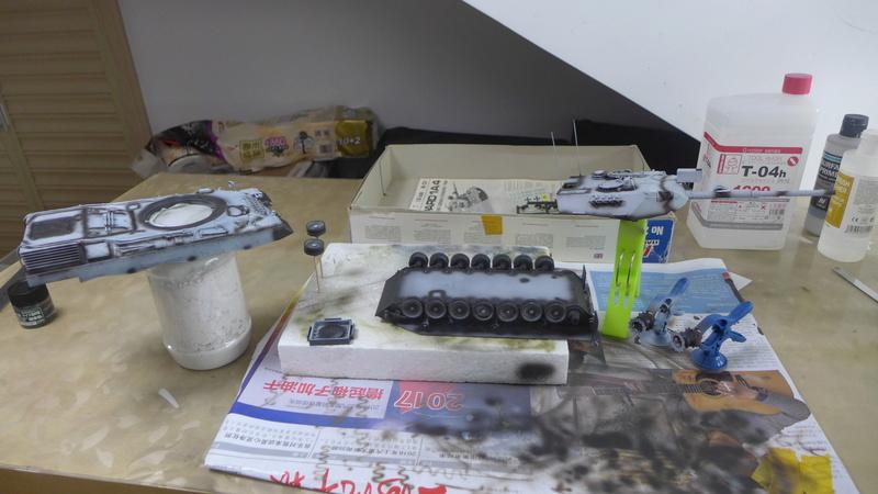 Leopard 1A4 von Italeri in 1:35 P1050829