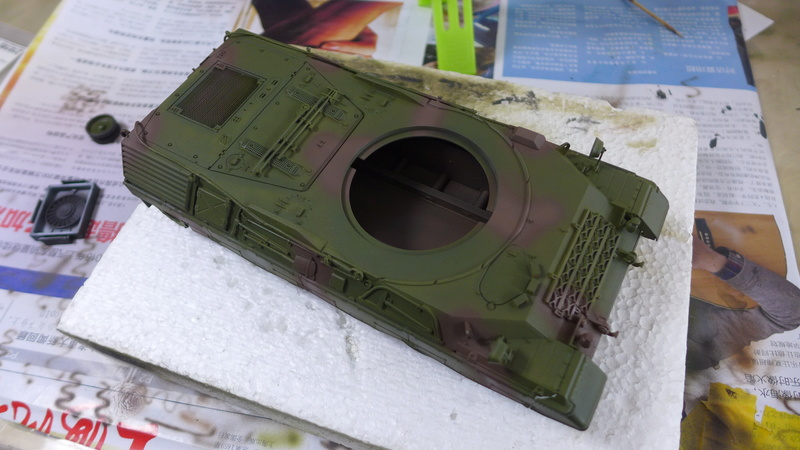 Leopard 1A4 von Italeri in 1:35 P1050839