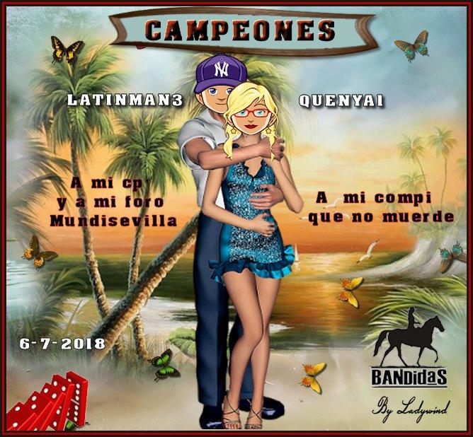6/7/2018  CAMPEONES QUENYA1 Y LATINMAN3 - SUBCAMPEONAS LOLAGATA Y MELYTA1 6-7-su11