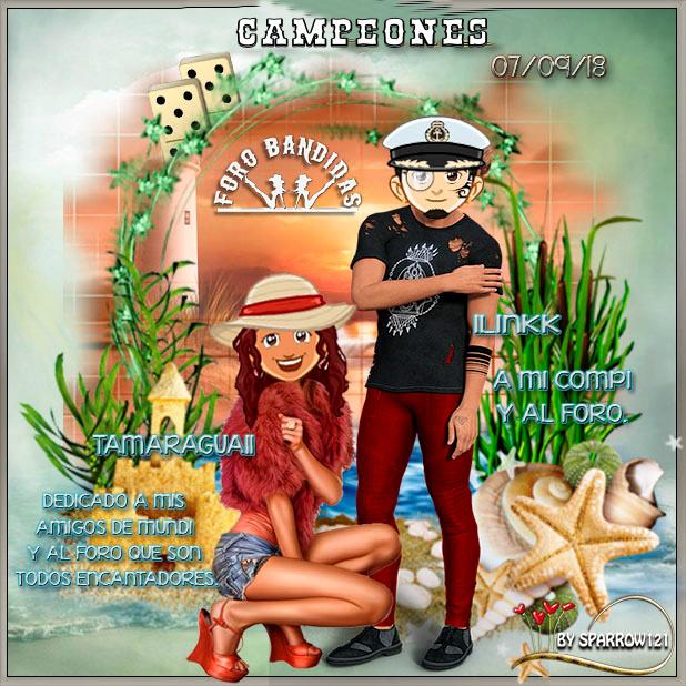 07/09/18 CAMPEONES:CHITA75 Y MICAR7 - SUBCAMPEONES:TAMARAGUA Y ILINKK 7-9-ca10