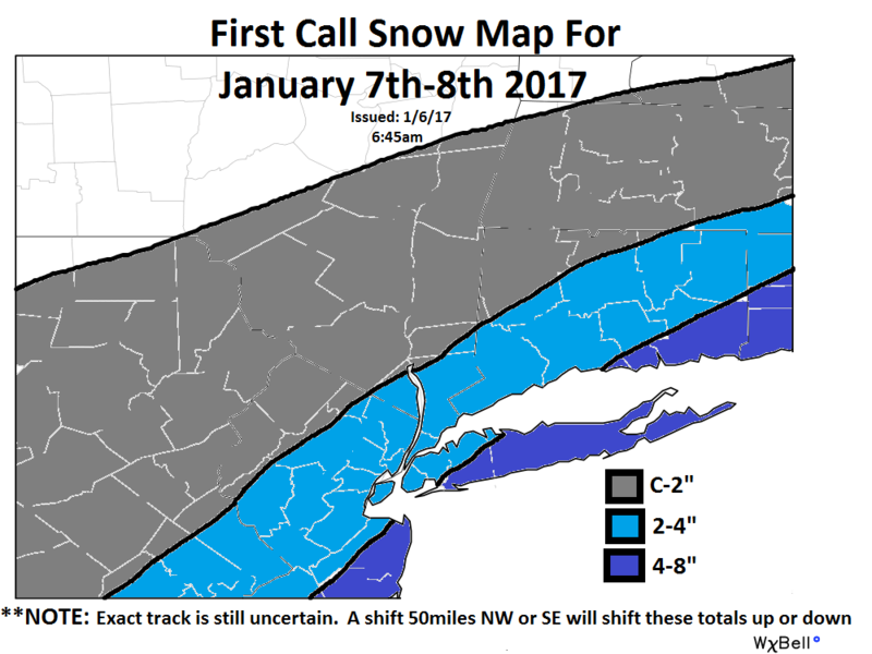 January 7th 2017 Snow Storm:  SNOW MAPS ONLY First_11