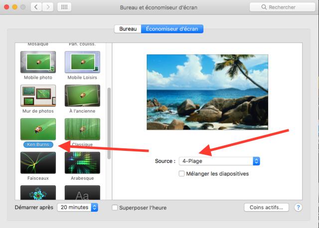 Créer son propre Économiseur d'énergie dans macOS Sierra Captu115