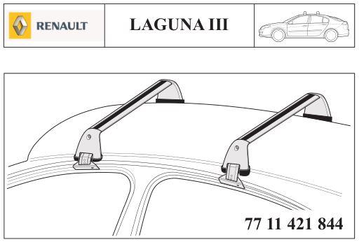 Barres de toit Laguna III Berline Captur56