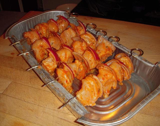 Brochette de poulet aux tomates séchées Tole10