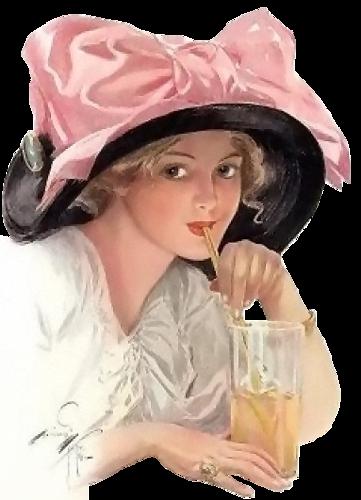"""Des élégantes  """"chapeautées"""" ... - Page 8 Chap_e10"""
