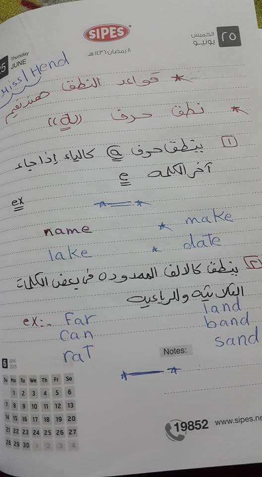 شرح فونكس .. قواعد نطق الحروف الانجليزيه - مس هند نعيم 1183