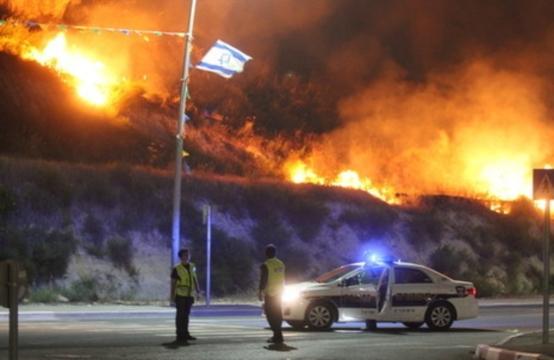 إسرائيل راحت النار ..  لليوم الثالث على التوالى حرائق إسرائيل تصل إلى مدينة حيفا وغلق الطرق الرئيسية  2010