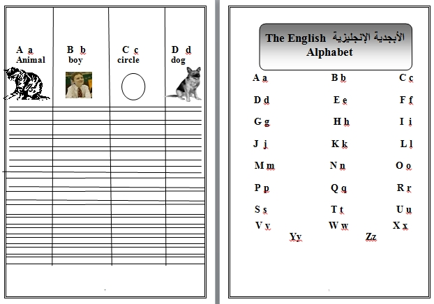 افضل مذكرة لتعليم اللغة الانجليزية من خلال الصور والاناشيد والتمارين 1ابتدائى ترم2 - صفحة 4 55216