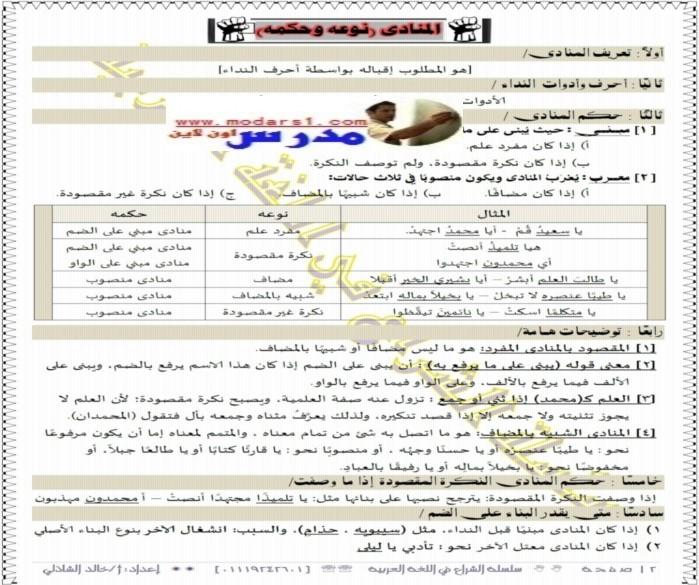 اقوى مراجعة لغة عربية للصف الثالث الاعدادي الازهري ترم اول 2017 8911