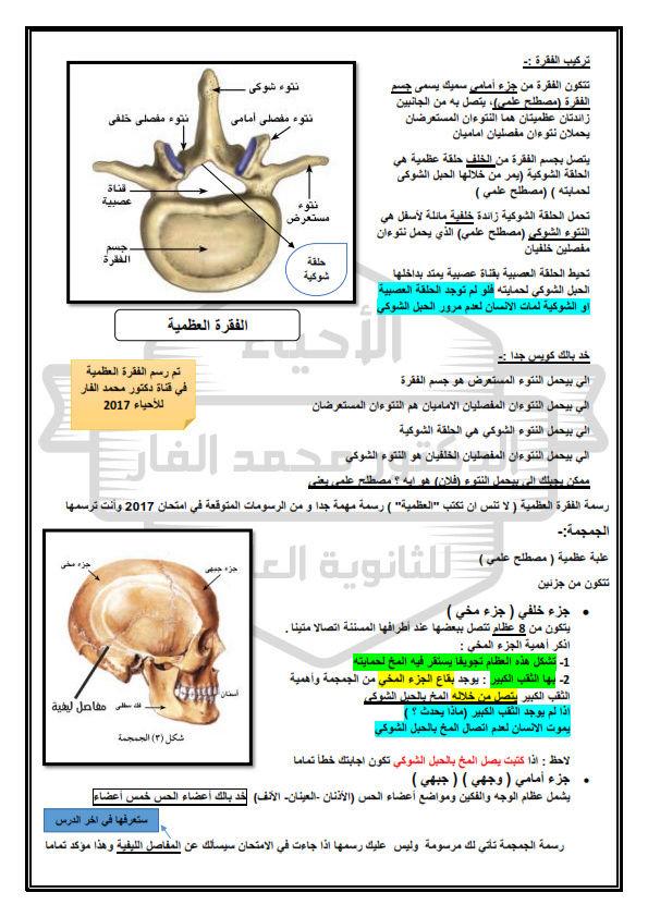 الدعامة في الكائنات الحية - احياء تانية ثانوي - د/ محمد الفار Drmelf10