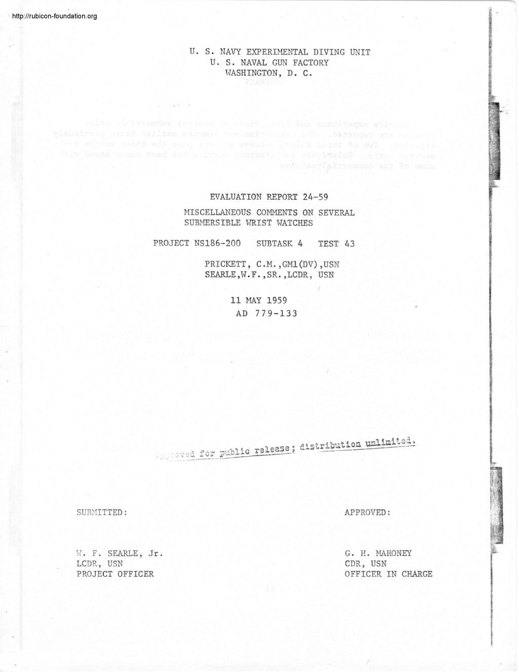 Enicar - Tests US Navy : Enicar, Rolex, Blancpain, Zodiac 000115