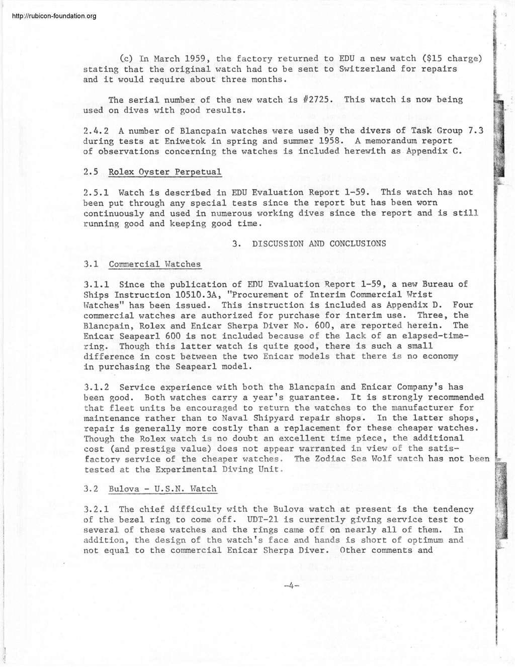Enicar - Tests US Navy : Enicar, Rolex, Blancpain, Zodiac 000815