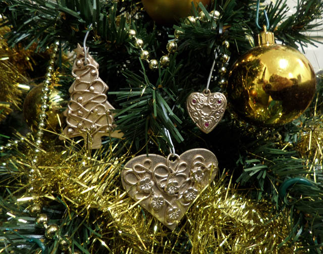 Déco de Noël en bronze doré classique Dycos_10