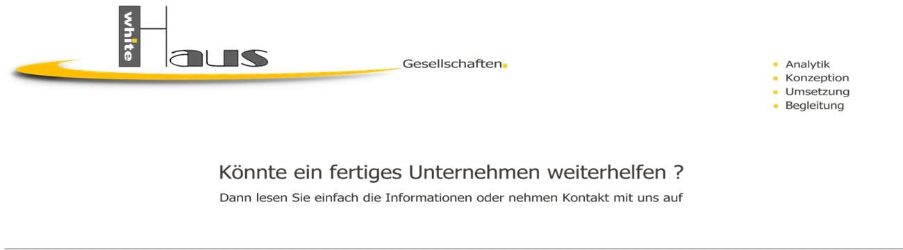 white Haus Gesellschaften - Vorratsgesellschaften + Firmenmäntel