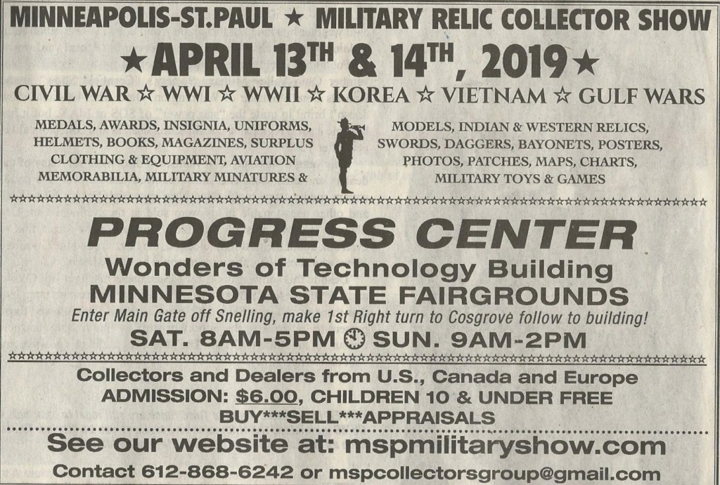 Minneapolis-St.paul, MN. Military Relic Collector Show Show10