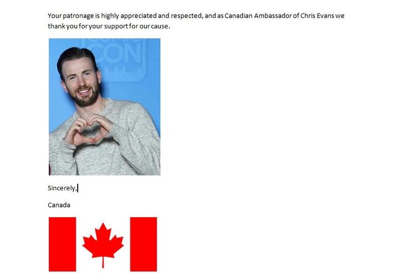 Urgent Request from Canadian Ambassador 610